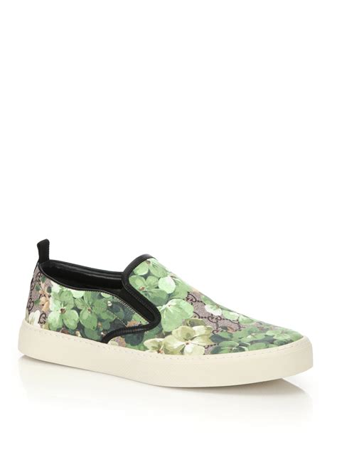 Gucci Shoes 868 1a lyst gucci dublin bloom slip on sneakers for