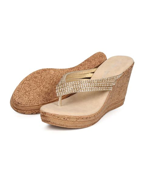 Rhinestone Wedge Sandals new nature warrant 03 metallic rhinestone