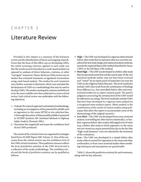 A Literature Review On The Safety Assessment Of Genetically Modified Plants by Chapter 2 Literature Review Evaluation Of Safety Strategies At Signalized Intersections