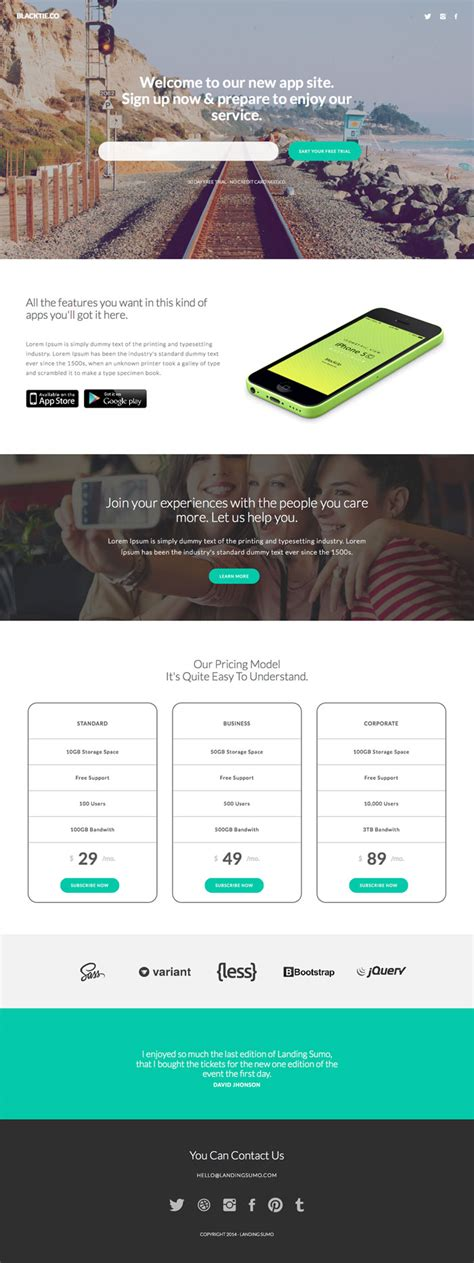 bootstrap themes landing sumo free bootstrap theme gridgum