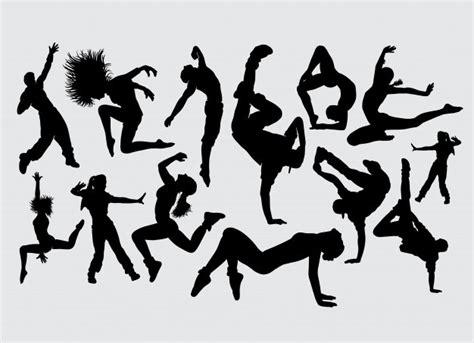 dancing human silhouette icons