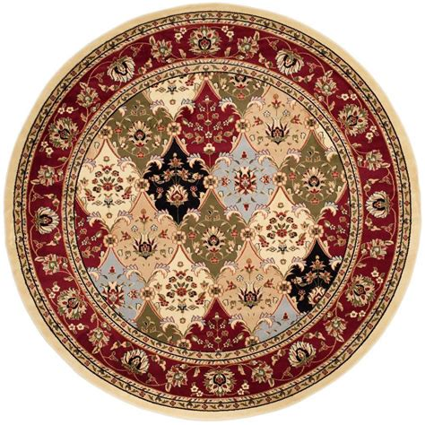 safavieh heritage accent rug in red multi hg926a 2 safavieh heritage red multi 10 ft x 10 ft round area rug