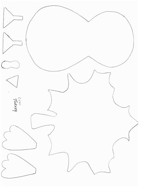 thanksgiving crafts print your turkey template all
