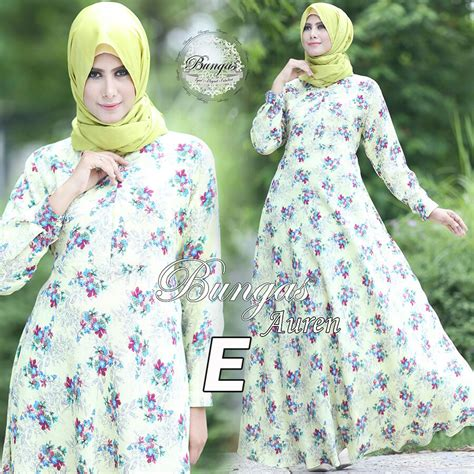 Baju Gamis Dress Maxy Linen Import Busui Frendly auren basic dress e baju muslim gamis modern