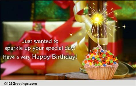 A Sparkling Birthday Wish. Free Happy Birthday eCards