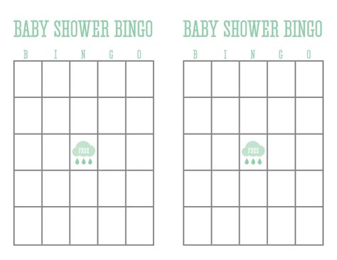 printable baby shower bingo card template car interior