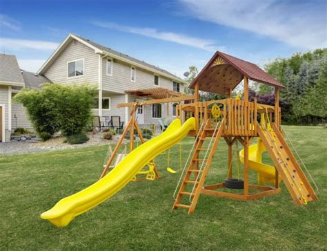 swing sets york pa amish built the wave rider wooden swing set located in
