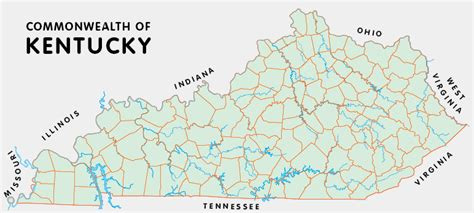 kentucky map county lines kentucky counties
