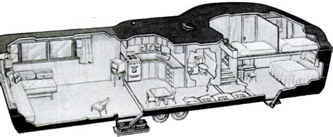 2 bedroom travel trailers for sale two story trailer cutway 1952 invisible themepark