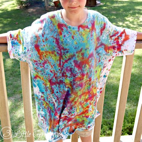 Summr Tie Dye T Shirt Shooting Kaos Tie Dye Tie Dye one color tie dye patterns with one color tie dye