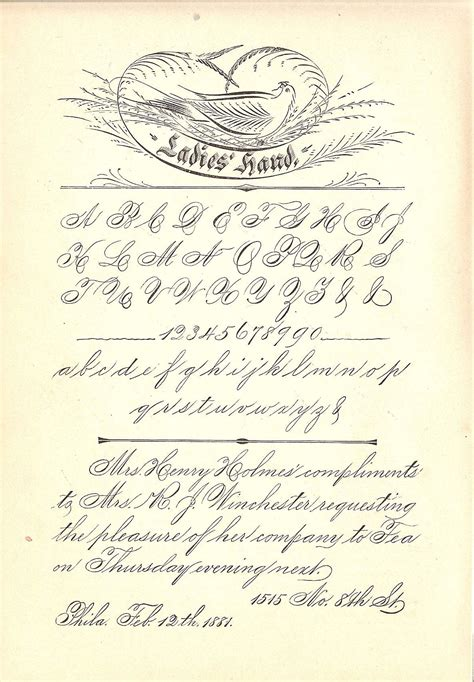 Spencerian Penmanship Worksheets by Spencerian Ieth Site
