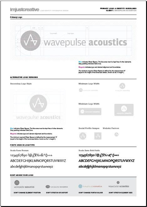 Imjustcreative Template Logo Identity Guideline Template For Web Design
