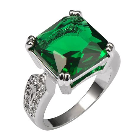 aliexpress buy emerald 925 sterling silver ring