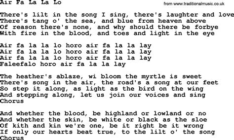 In L Lyrics by Air Fa La La Lo By The Dubliners Song Lyrics And Chords