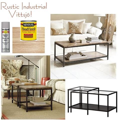 Ikea Usa Coffee Table Rustic Industrial Vittsjo But Do This To The Vittsjo Tv Stand And Switch The Glass To