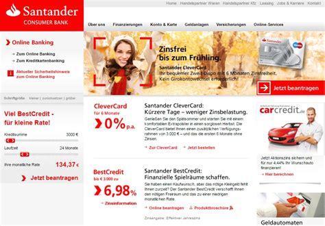 www santander consumer bank banking meine erfahrungen mit der santander card