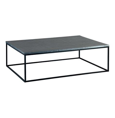 deon industrial style pattern metal rectangle coffee table