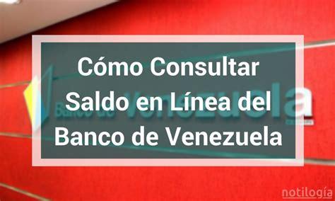 Consultar Tarjeta Del Banco De Venezuela | consultar saldo en cuenta banco de banco bolivariano