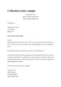 Collection Letter Of Credit Dunning Collection Letter Sle Template Exle Format