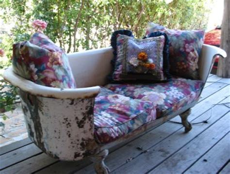 clawfoot tub made into sofa dishfunctional designs the upcycled garden volume 2