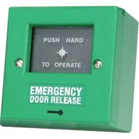 Emergency Door Release by D6c Fully Key Resettable Manual Call Point Green