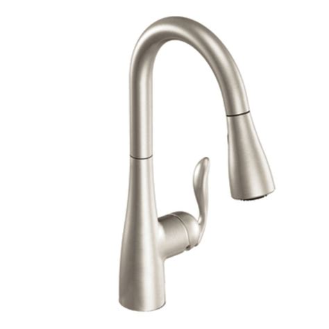 pictures of moen kitchen faucets moen 7594srs arbor one handle high arc pulldown kitchen faucet featuring reflex