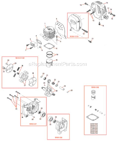 shindaiwa trimmer parts diagram shindaiwa t350 parts list and diagram ereplacementparts
