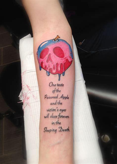 apple tattoos snow white poison apple for a allergic to
