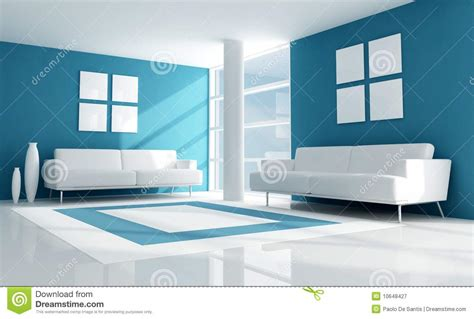 blue modern living room blue and white modern living room royalty free stock photography image 10648427