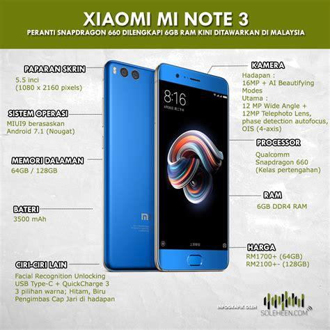 Hp Samsung Note 3 Di Malaysia harga xiaomi mi note 3 di malaysia bermula sekitar rm1700 peranti sd660 dan 6gb ram soleheen