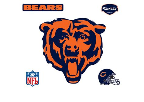 chicago bears logo wall decal shop fathead 174 for chicago
