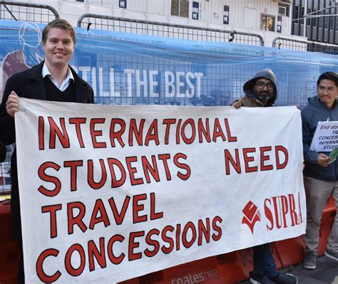 international students call for travel concession cards green left weekly