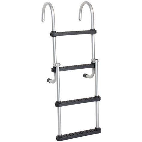 boat ladder west marine west marine removable folding pontoon ladder 4 step