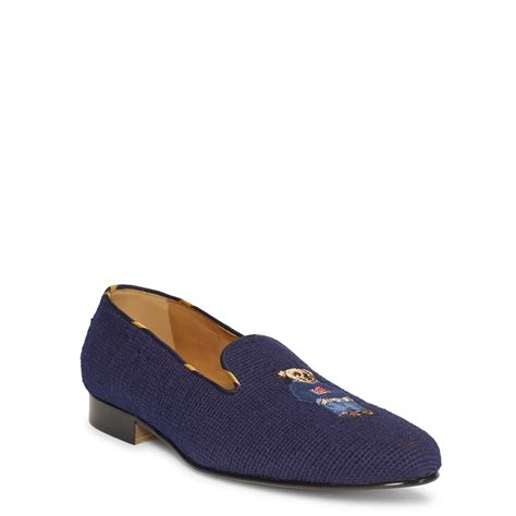 polo slippers mens lyst ralph collis polo slipper in blue for