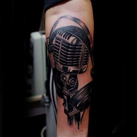 microphone tattoo on arm 90 microphone tattoo designs for men manly vocal ink
