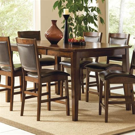 tall dining room table sets tall dining table leann counter height dining set tall