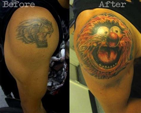 animal tattoo cover ups 18 creative ways people have covered up bad tattoos smosh