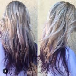 hair styles that are and layerd with purple die in it 20 purple ombre hair color ideas popular haircuts