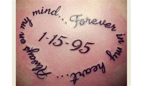 forever in my heart tattoo miscarriage shaped wording always on my