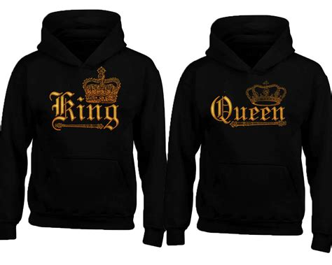 couple hoodie boy king girl queen and new design couple wild king queen gold soul mate couple hoodie sweaters cartoon