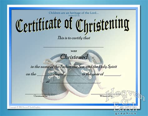 templates for baptism certificates baby christening certificate template free baby boy