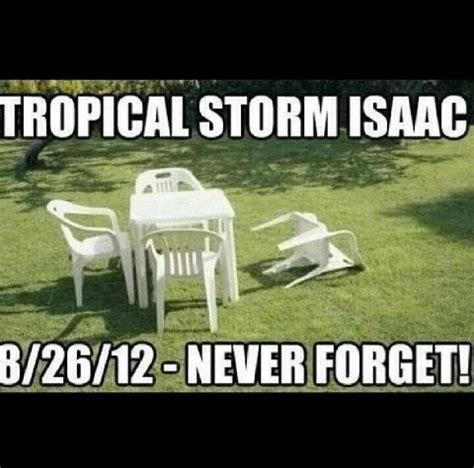 Lawn Chair Never Forget by Florida Weather Pics