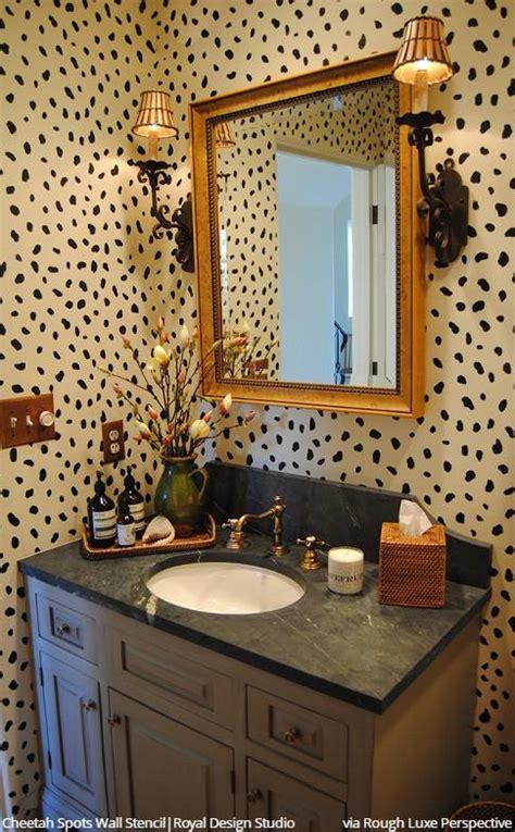 cheetah leopard allover spots wall stencil  animal