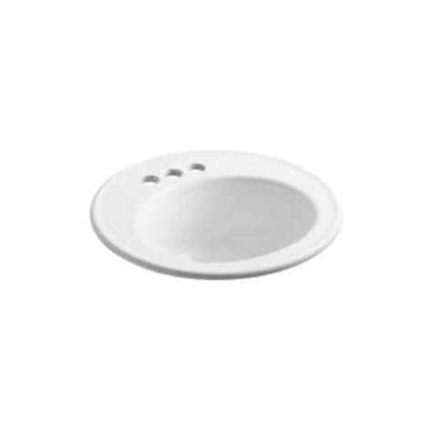kohler top mount bathroom sinks kohler brookline top mount bathroom sink in white k r2202