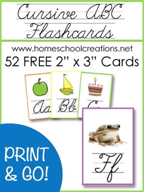 printable cursive alphabet flash cards cursive abc flashcards and posters free printables nu