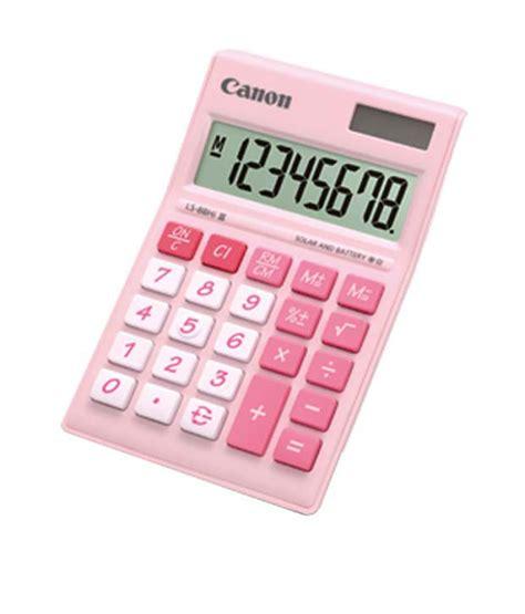 Kalkulator Canon As 120v Pink Tztv canon 8 dgt mini desk ls 88hi iii pink calculator pack of