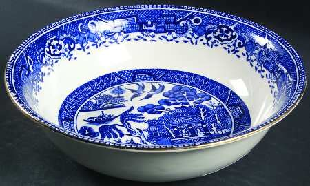 willow pattern with gold trim washington pottery old willow blue gold trim at