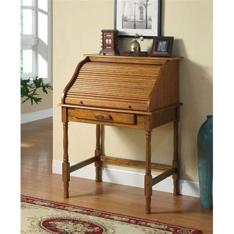 palmetto small roll top desk coaster furniture