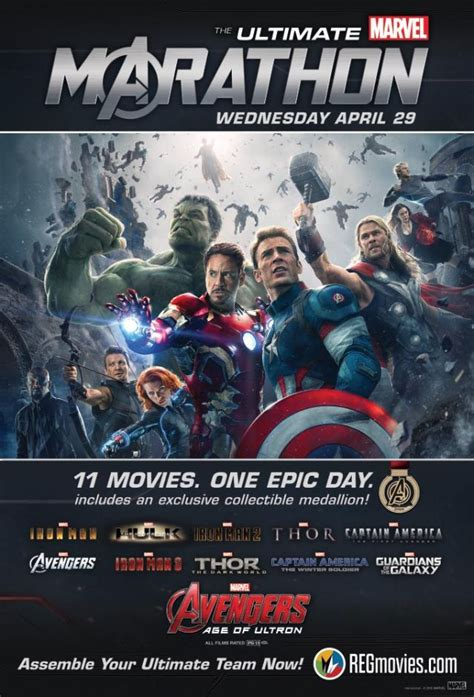 marvel film marathon the ultimate marvel marathon is coming to theaters