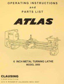 Atlas Craftsman 12 Quot Metal Lathe 3980 3981 3982 3983